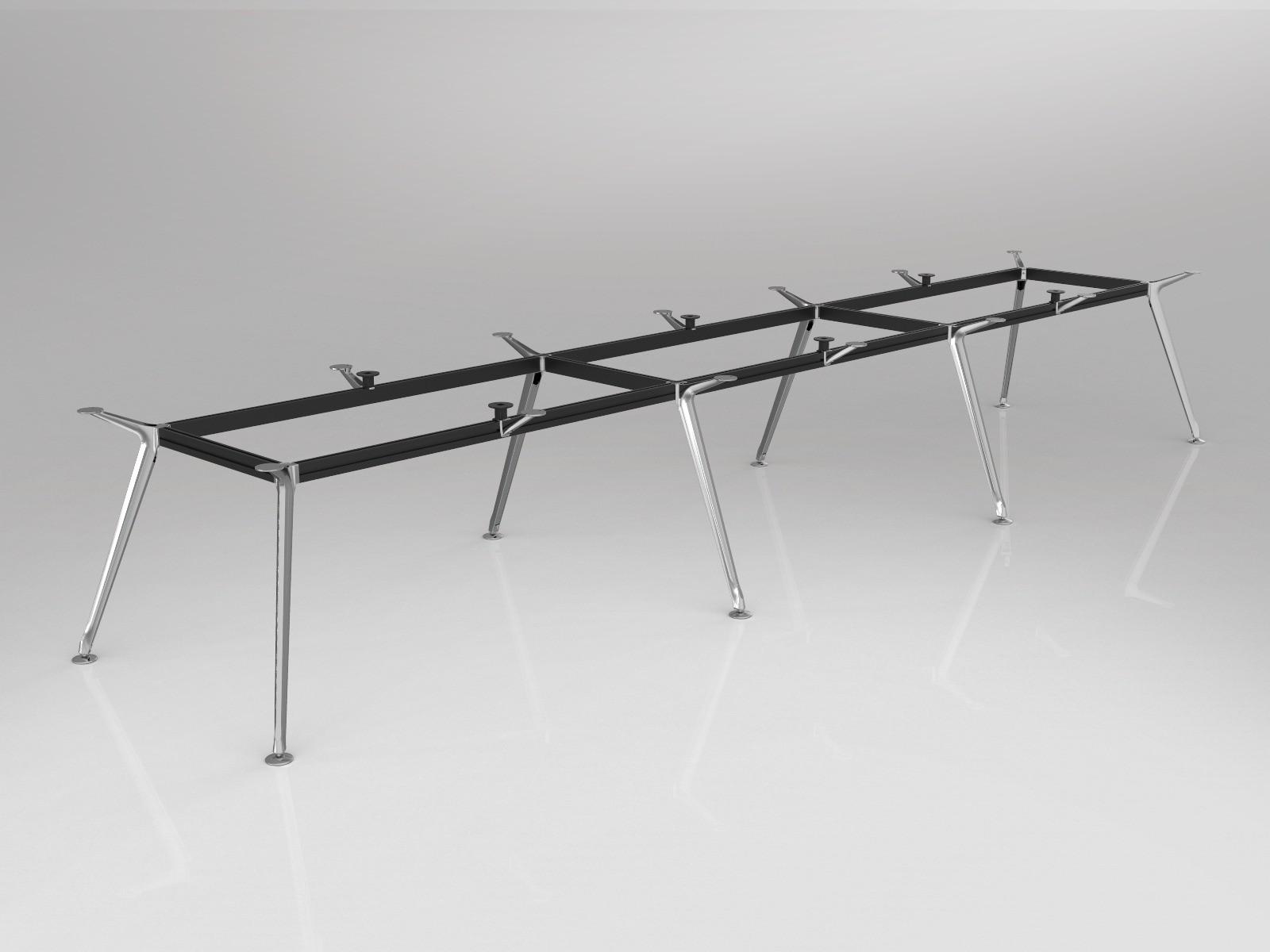 OL Team Meeting Boardroom Table Frame 8 Legs
