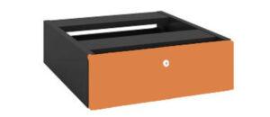 GP OMsystem Commercial Office Fix Desk Pedestal 1 Drawer