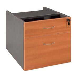 GP OMsystem Commercial Office Fix Desk Pedestal 1 Drawer & 1 File