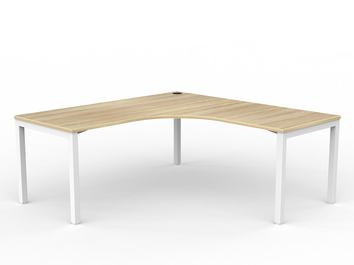 OL Axis Single 90° Workspace Corner Desk
