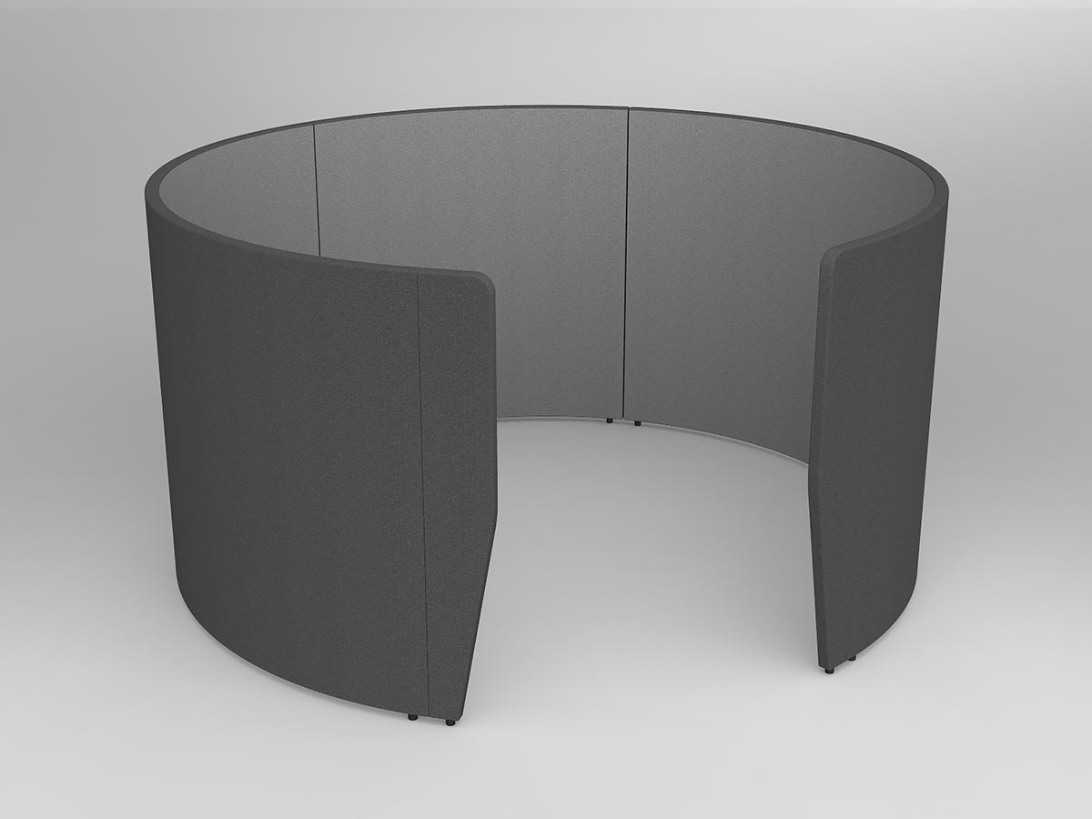 OL Motion 1400mm High Walls Ring for Private Space Meetings