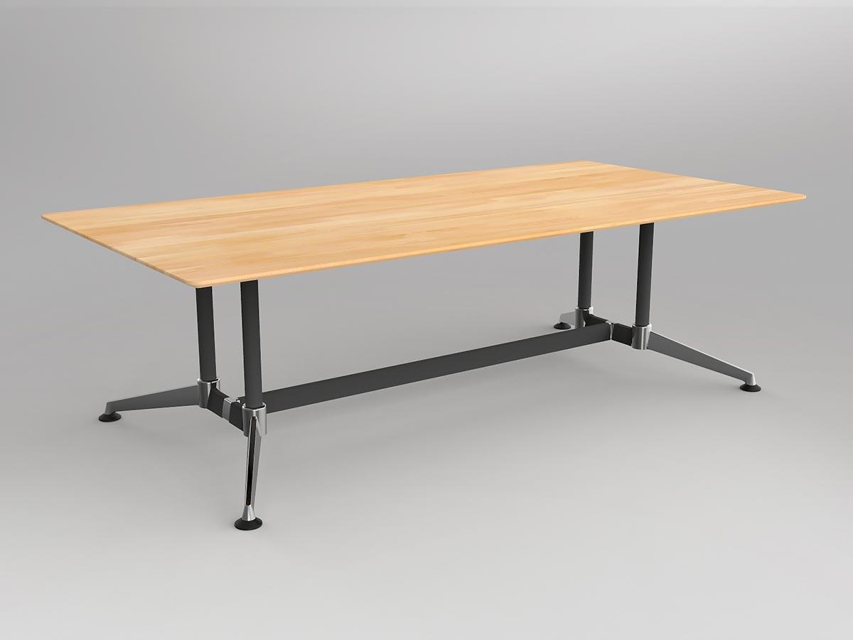 OL Modulus Solid Beech Meeting Table