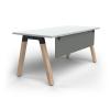 OL Plantation Single Sided Desk with Modesty