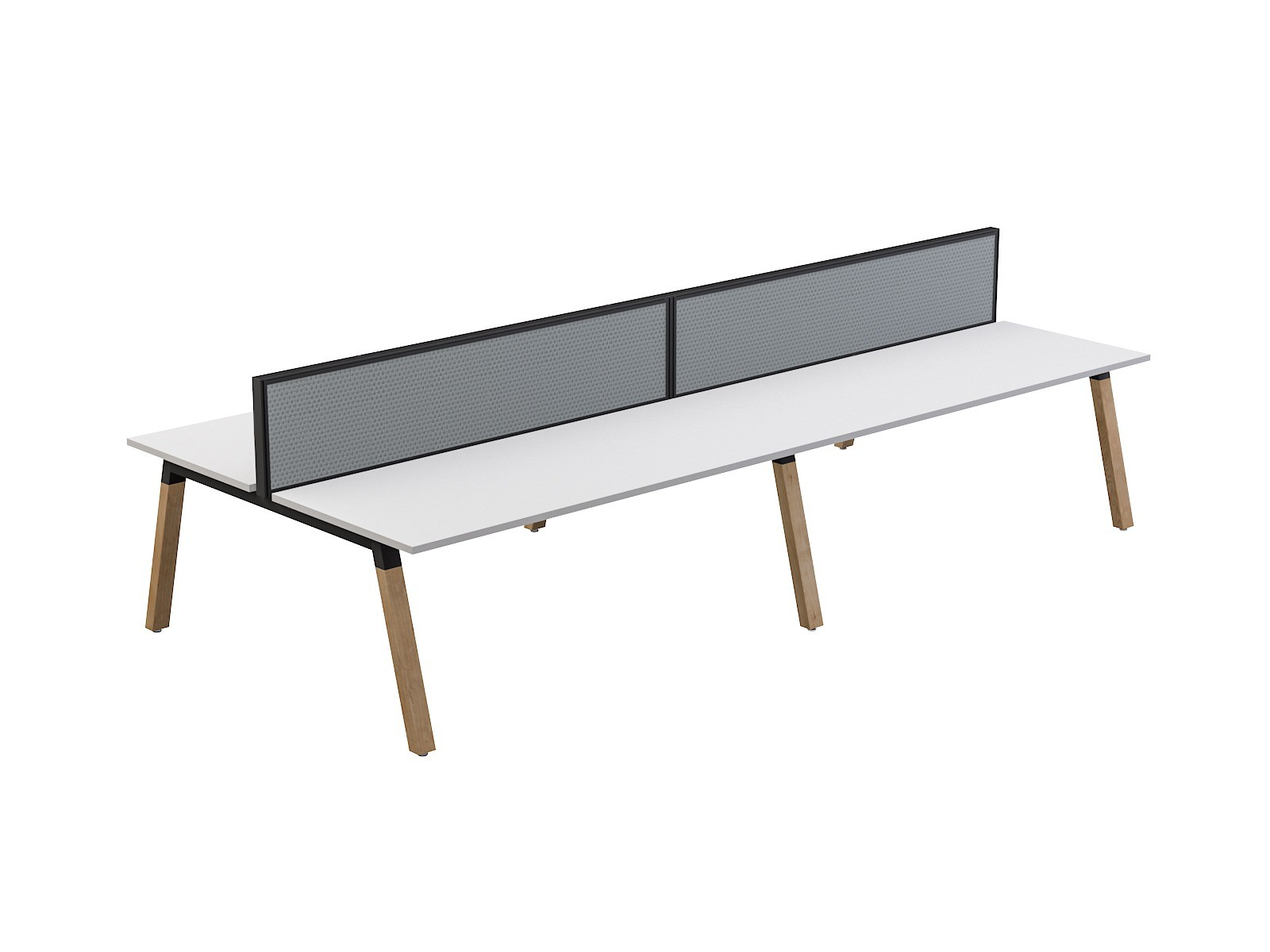 OL Plantation 4 users Double-Sided Desk with Studio 50 Screen