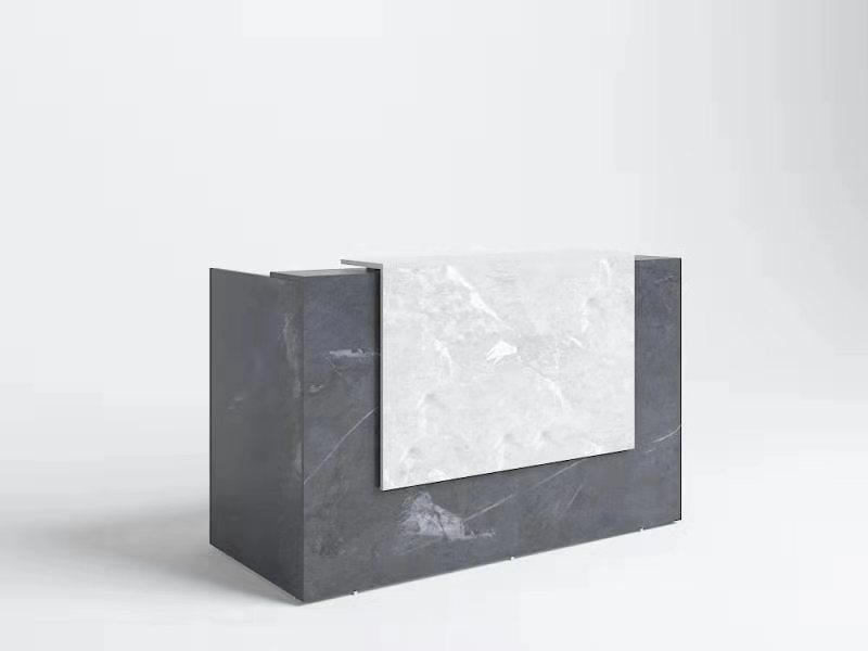 GP Sorrento Marble Charcoal Melamine Reception Counter