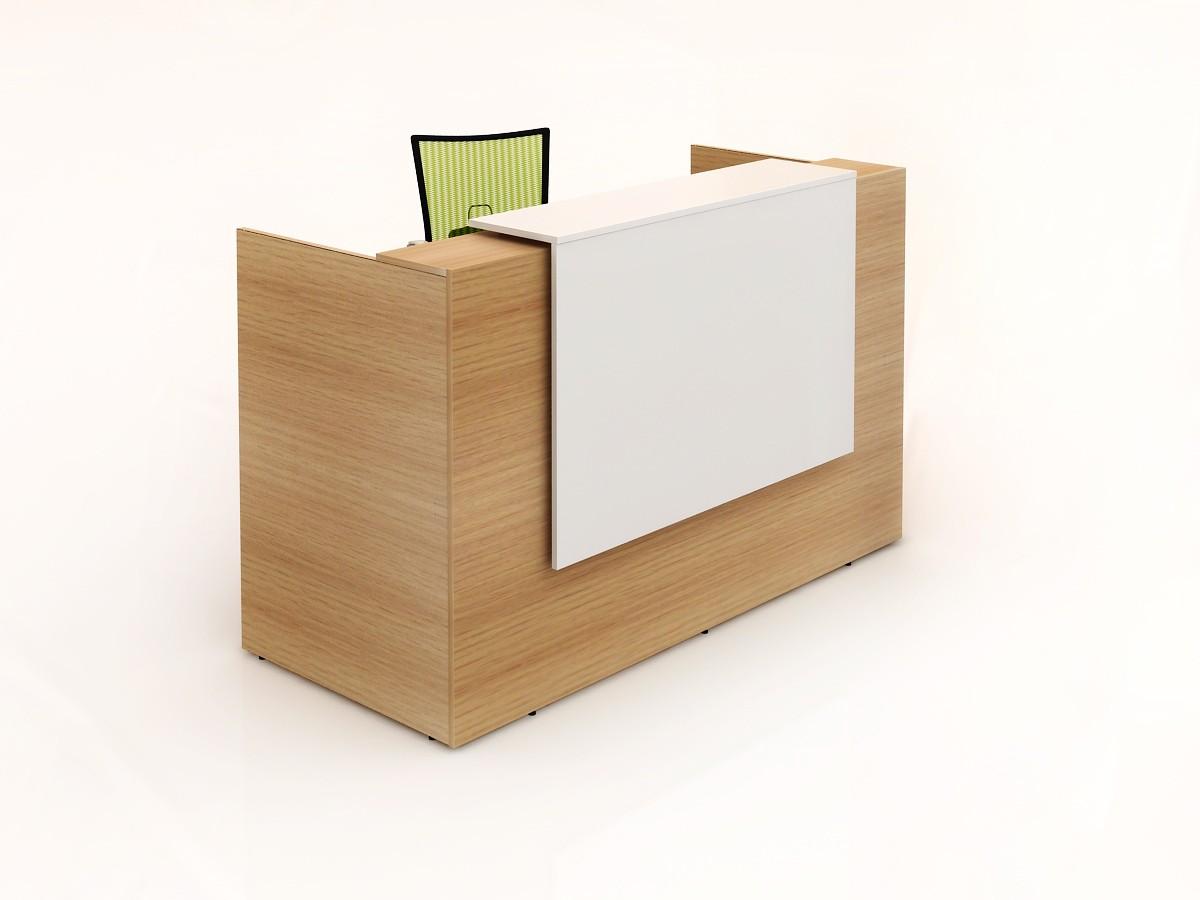 GP Sorrento Beech Melamine Reception Counter