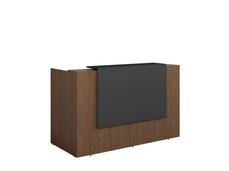 GP Sorrento Regal Walnut Melamine Reception Counter