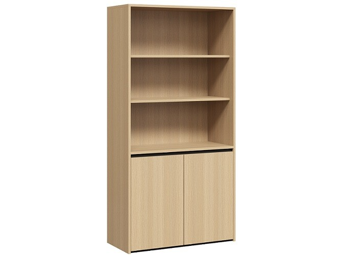 DD Shadowline Cupboard – Half Bookshelf + Storage