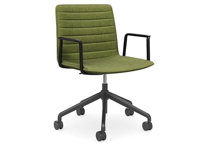 DD Nikola Meeting Chair with Black Arm Rest
