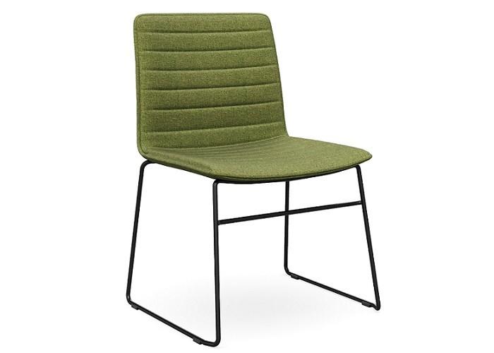 DD Nikola Sled Base Chair in Black Frame